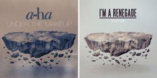 SLÅENDE LIK: Til venstre ser du første utgave av a-has cover og til høyre italienske Victors.