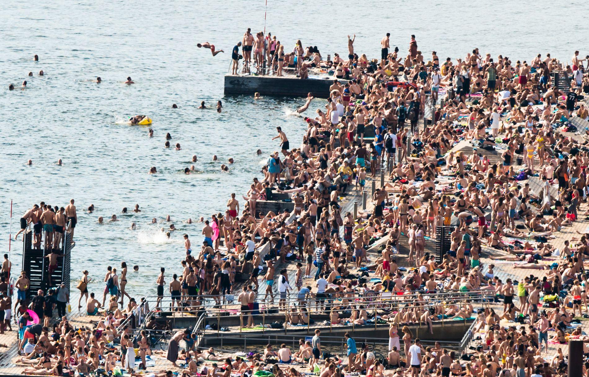STENGES: Populære Sørenga sjøbad stenges midt i fellesferien, men for hvor lenge er uvisst.