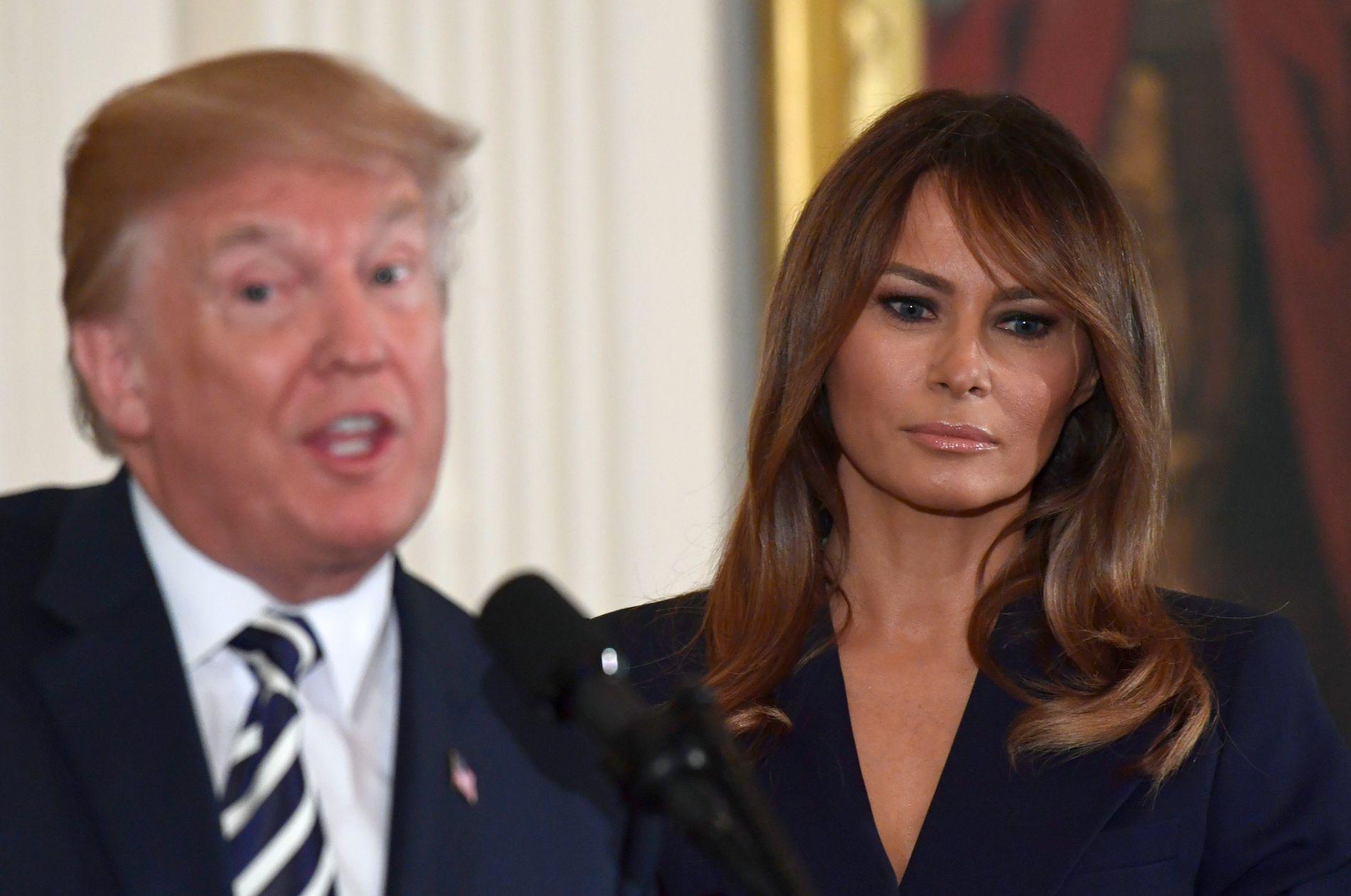 INNLAGT: USAs førstedame Melania Trump har gjennomgått en nyreoperasjon, opplyser Det hvite hus mandag.