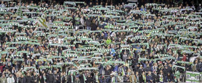 JAGER PUBLIKUMSREKORDEN: Hammarby har en fantastisk tiltrekningskraft. Til sesongåpningen mot Häcken i april kom det 30 278 tilskuere til Tele 2 Arena.