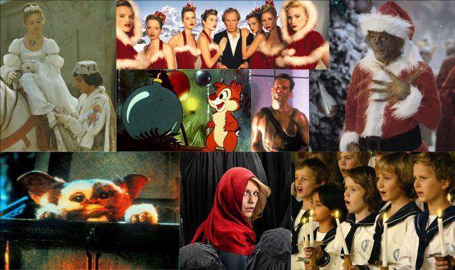JUL PÅ TV: Øverst fra venstre «Tre nøtter til Askepott», «Love Actually», «Grinchen», Snipp eller Snapp, «Die Hard», «Gremlins», «Homeland» og Sølvguttene, er noe av det du kan se på skjermen i julen.
