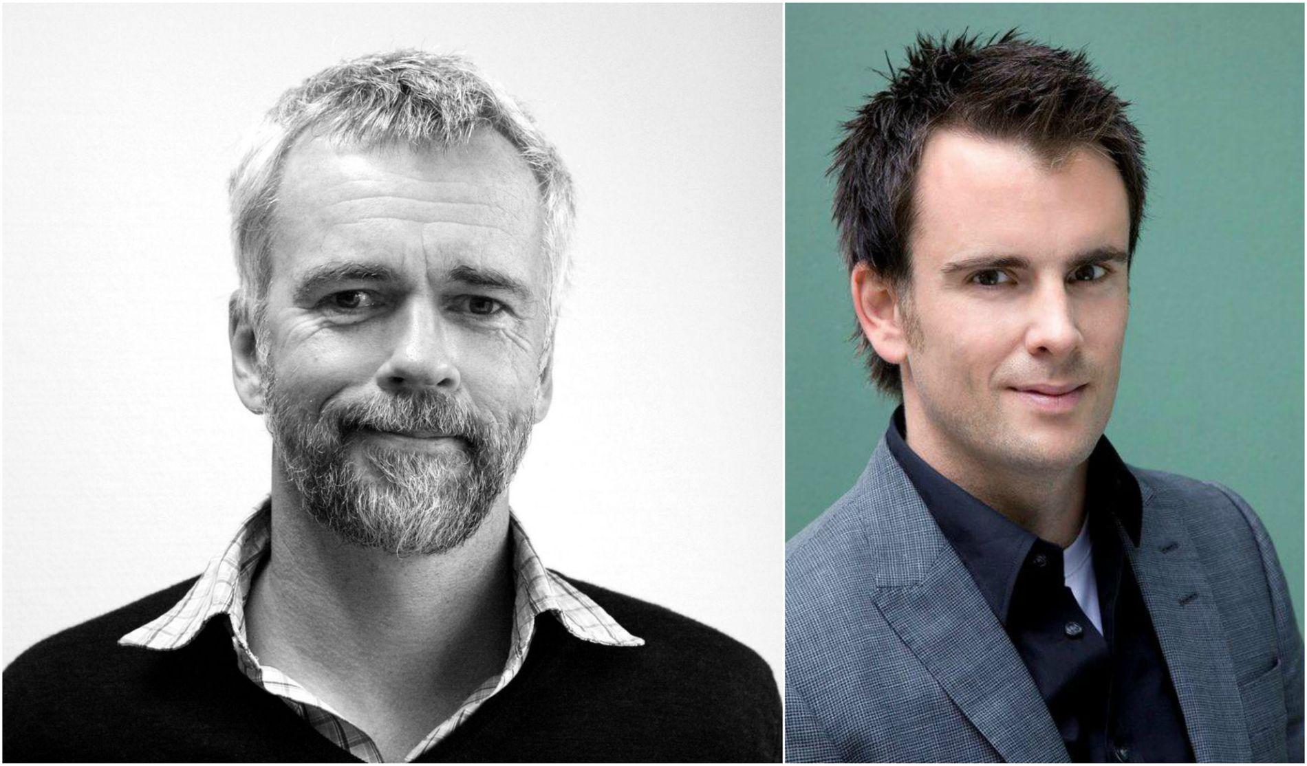 KRANGLER: Tankesmie-kameratene Bård Larsen og Magnus Marsdal.