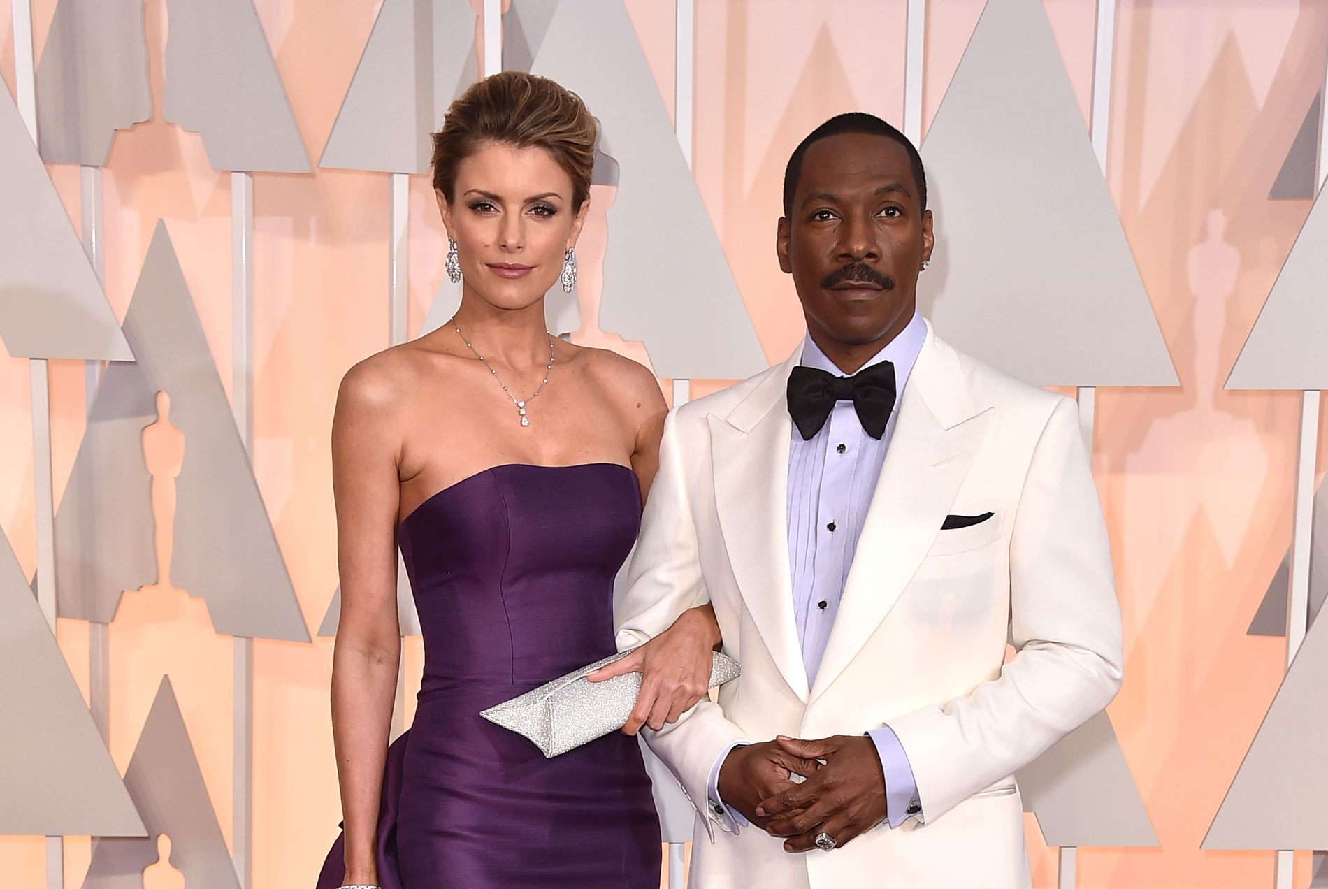 RØD LØPER:  Australske Paige Butcher og Eddie Murphy, her på Oscar-utdelingen i februar 2015.