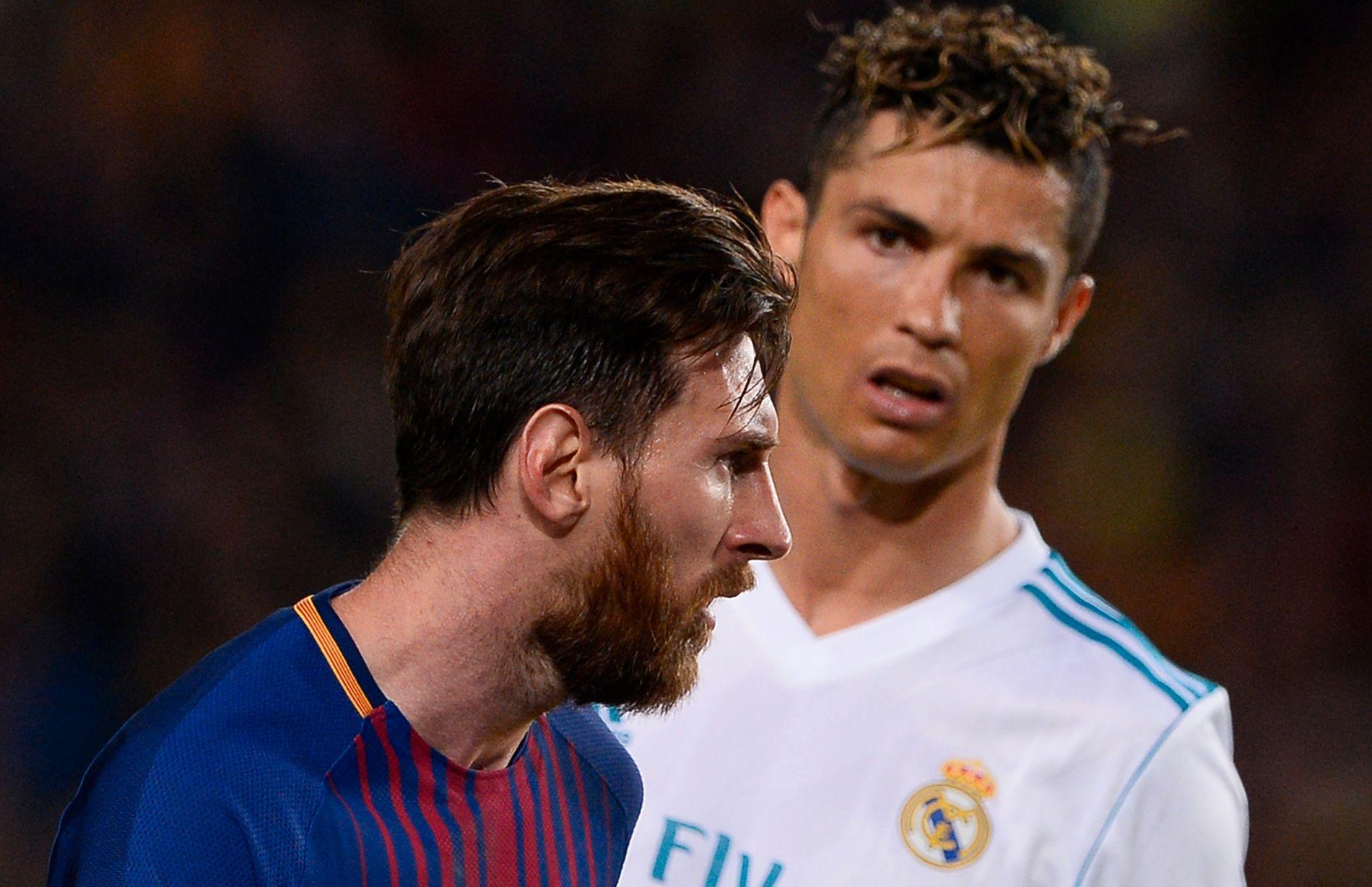 GIGANTER: Cristiano Ronaldo (t.h.) er ikke lenger i Real Madrid, men om du ønsker å se hans Juventus og Lionel Messis (t.v.) Barcelona, er det Strive som gjelder.
