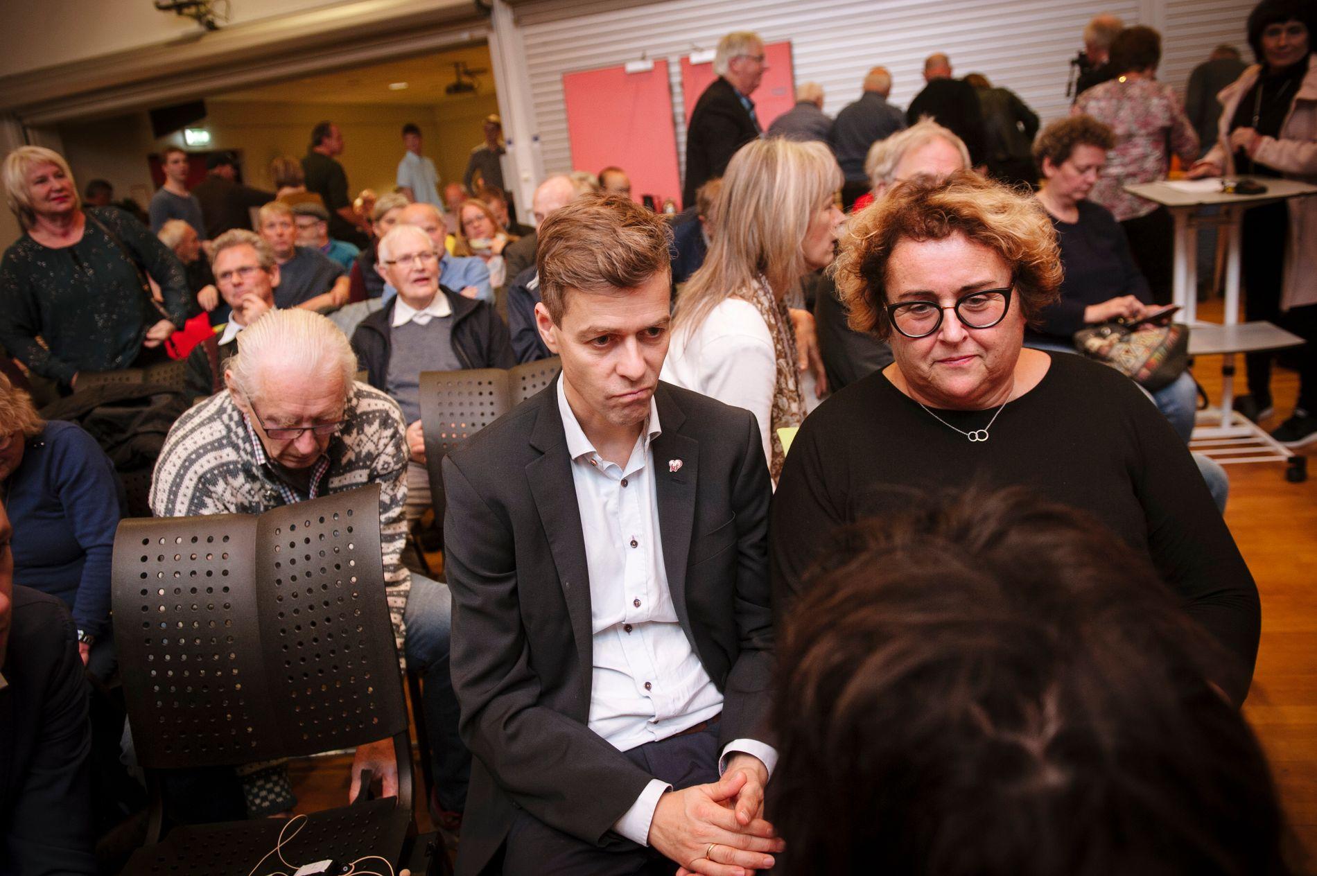 UENIGE: Partileder Knut Arild Hareide og nestleder Olaug Bollestad, her under medlemsmøtet i Trøndelag KrF tidligere denne uken.