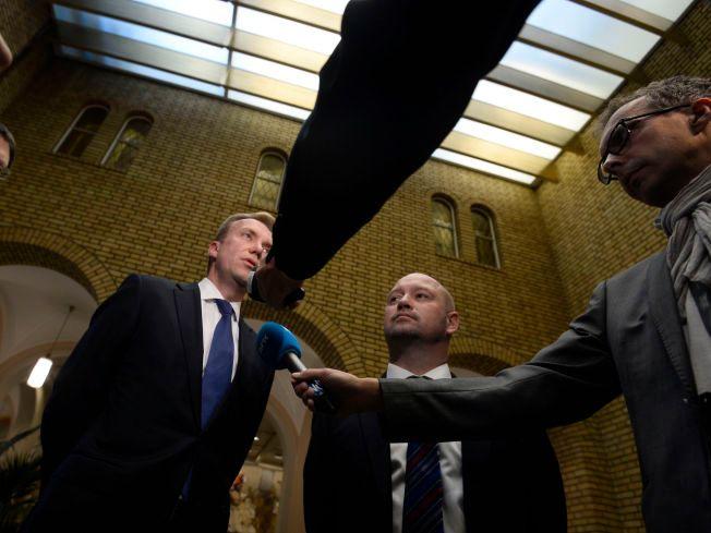 STOPP: Utenriksminister Børge Brende (til venstre) og justisminister Anders Anundsen, fotografert i Stortinget fredag.