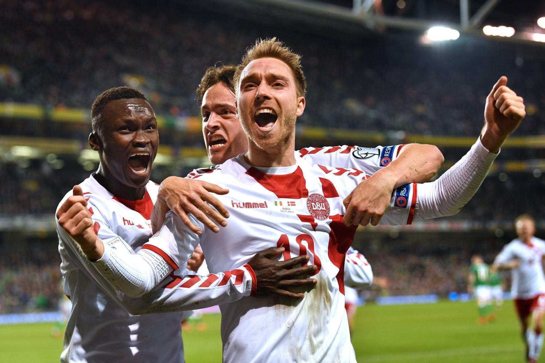 HOVEDMANNEN: Irland-Danmark 1-5. Tre mål og hat-trick fra Danmarks Christian Eriksen.