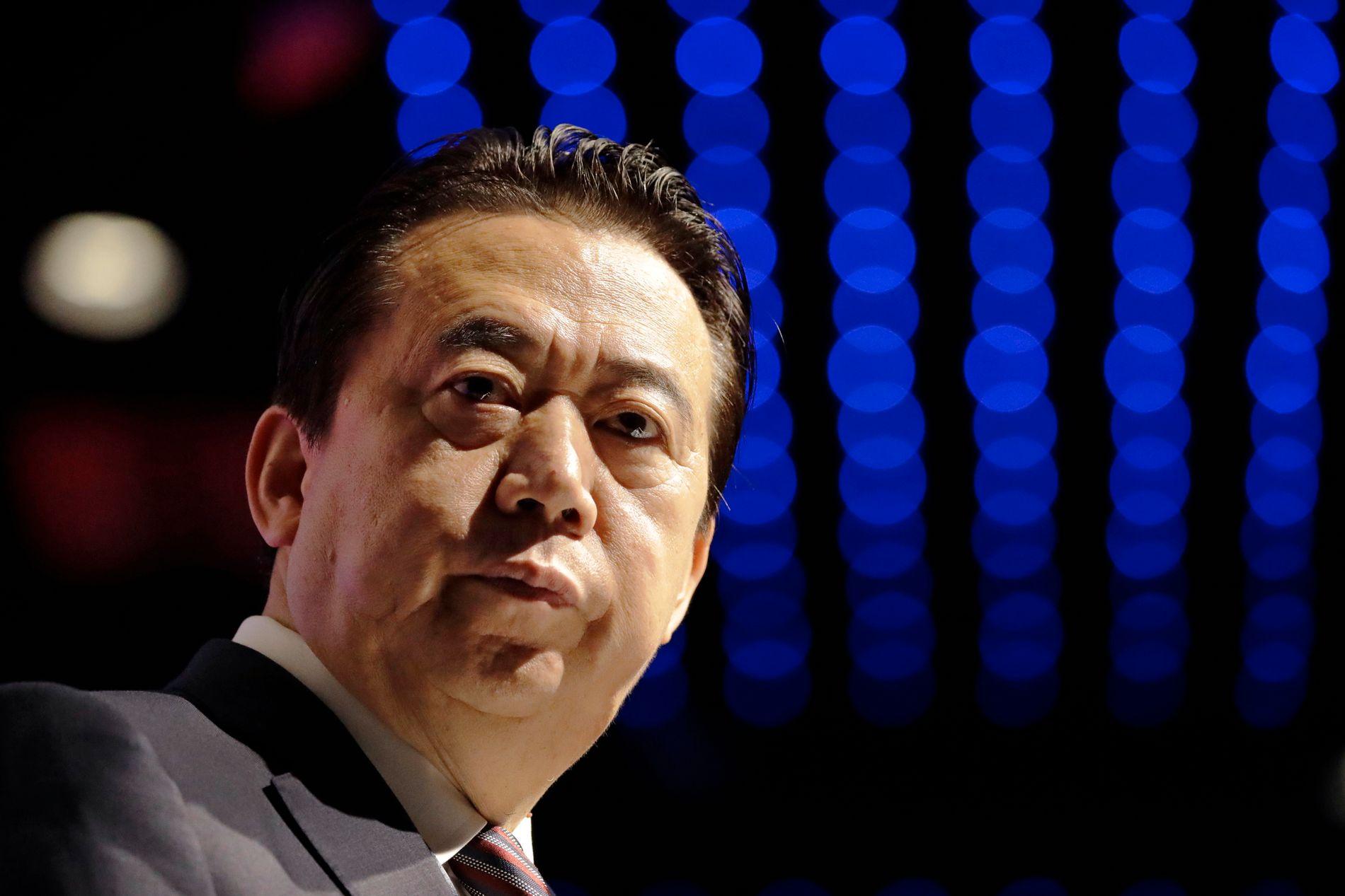 TREKKER SEG: Interpols forhenværende president Meng Hongwei har trukket seg, opplyser organisasjonen selv.
