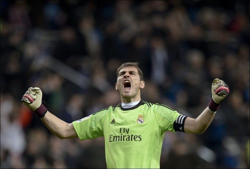 a079ae89 CUPJUBEL: Real Madrids Iker Casillas jubler etter at Angel Di Mario sendte  av gårde et skudd som førte til selvmål og 3-0 til hjemmelaget over Atletico  ...