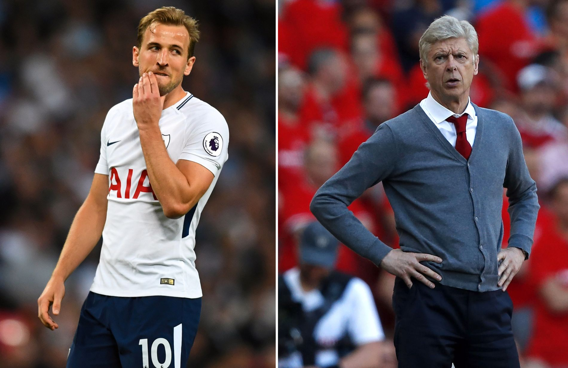 LONDON-HELTER: Harry Kane (t.v.) og Arsene Wenger.