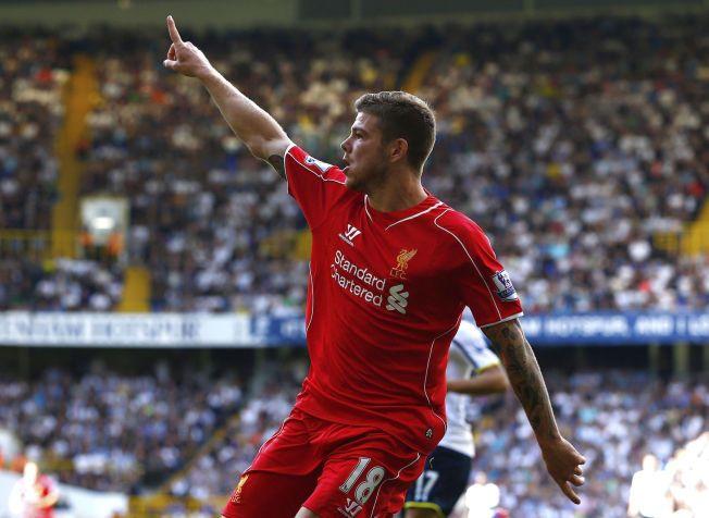 SOLORAID: Alberto Moreno punkterte kampen mot Tottenham med et imponerende soloraid.