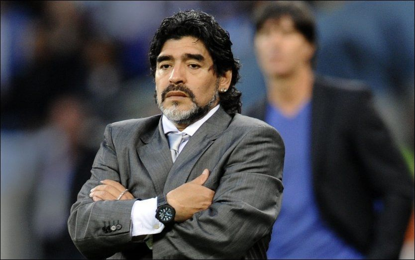 FERDIG SOM ARGENTINA-SJEF: Diego Maradonas dager som sjef for landslaget er talte. Foto: AFP