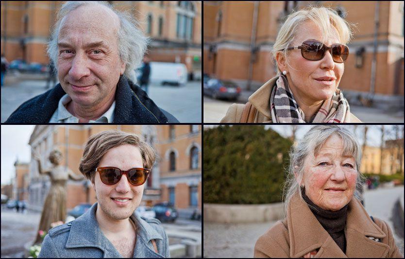 HYLLET WENCHE: Øverst fra venstre: David Reistad, Gro Elisabeth Sille, Lars Erik Haugen og Tone Borchgrevink Foto: Krister Sørbø/VG