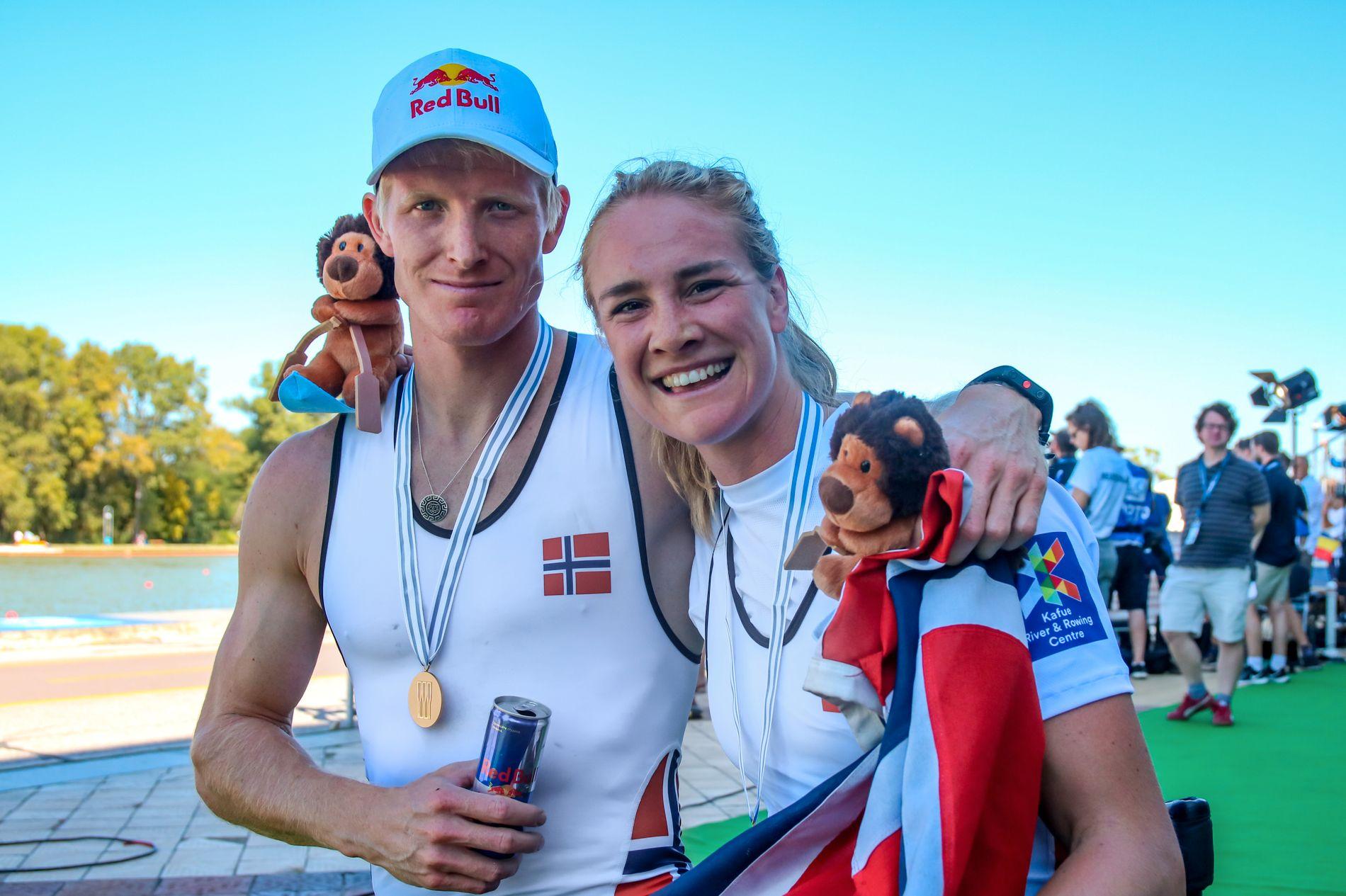 DOBBELTGULL: Kjetil Borch og Birgit Skarstein skaffet Norge to VM-gull i løpet av bare et kvarter i bulgarske Plovdiv.