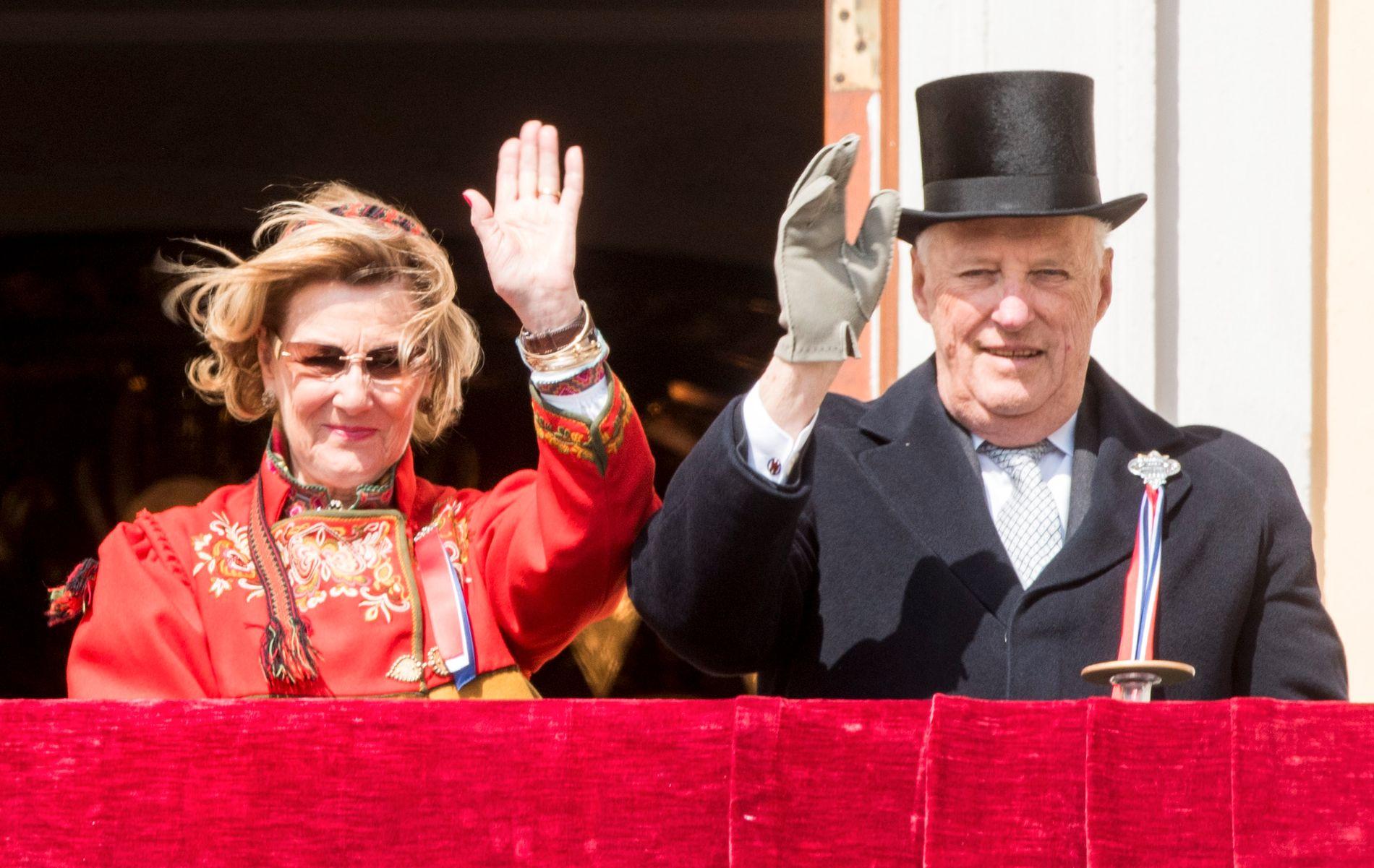 UTROLIG HYGGELIG: Slottet skriver at det er «utrolig hyggelig» at så mange vil feire kongeparet på deres gullbryllupdags neste onsdag.
