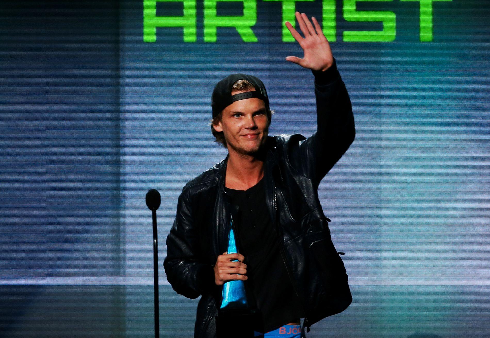 DØD: Avicii ble bare 28 år, her på en prisutdeling for noen år siden.