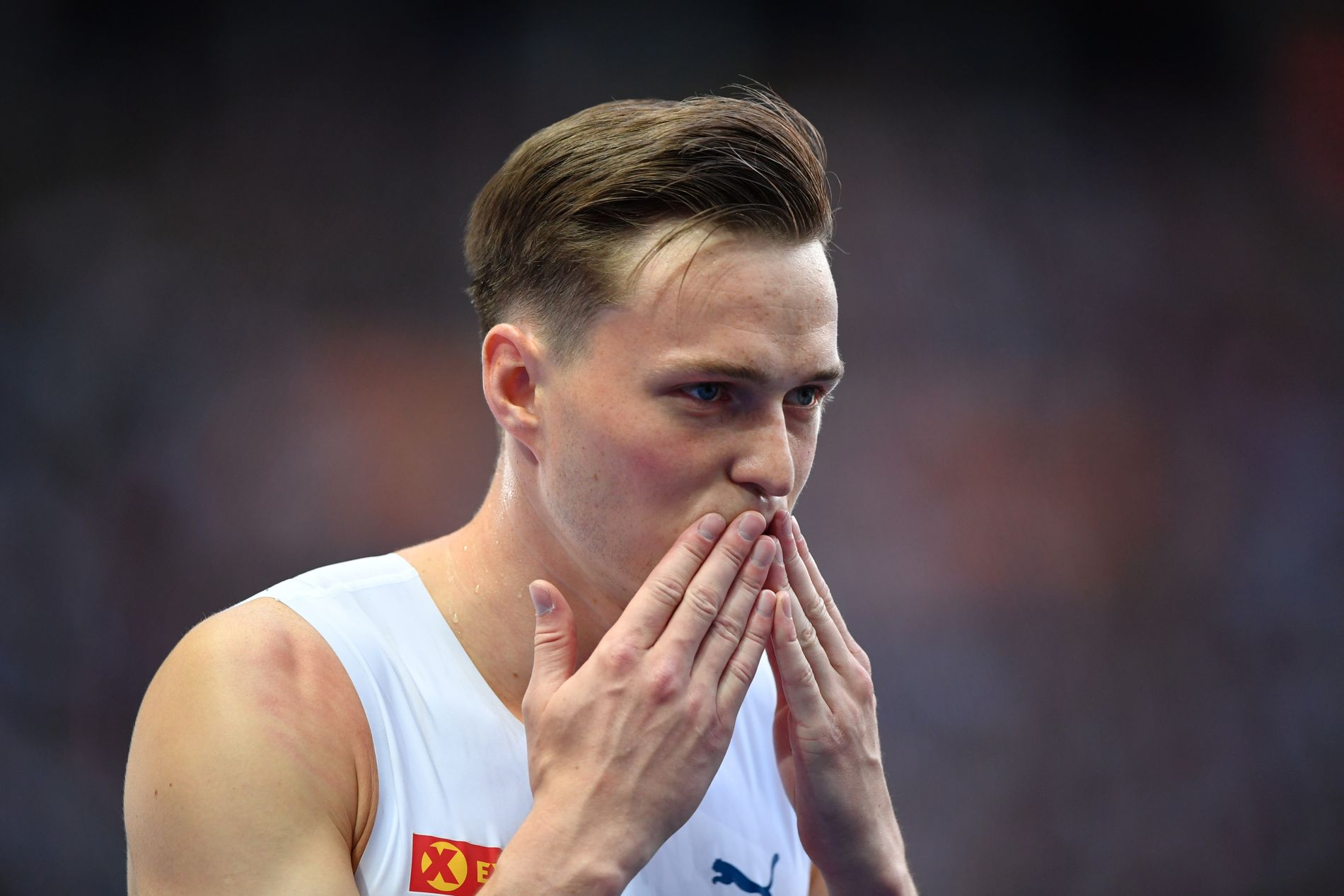 EUROPAMESTER: Karsten Warholm tok torsdag kveld sitt første EM-gull, da han vant finalen på 400 meter hekk i Berlin.
