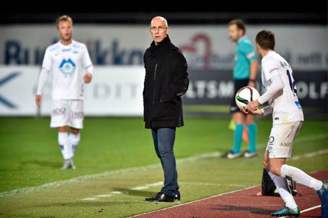 ØNSKET SOM NY MOLDE-TRENER: Bob Bradley kan komme til å trene Martin Linnes (t.h) og Sander Svendsen neste sesong. Linnes er mektig imponert over det amerikaneren har fått til i Stabæk.