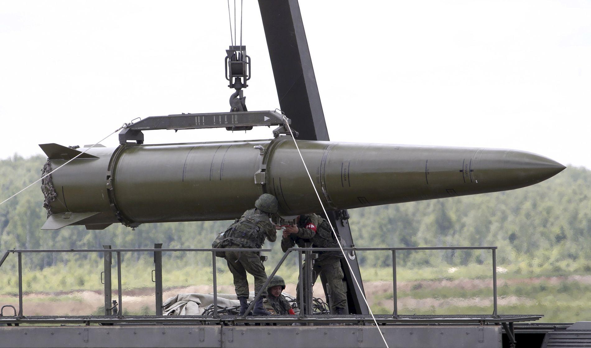 ISKANDER: Det er missiler av denne typen som Russland har plassert ut i Kaliningrad. Det er imidlertid uklart om russerne har sendt med atomstridshoder.