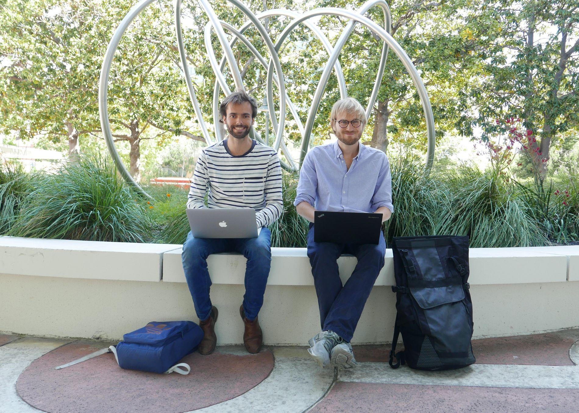 UTFORDRER BRANSJEN: Studievennene Sondre Rasch (FV) og Fredrik Thomassen har utviklet en tjeneste som forandrer vikar- og bemanningsbranjsen over hele verden. Selskapet heter Konsus og er et av Silicon Valleys hurtigst voksende start-ups.