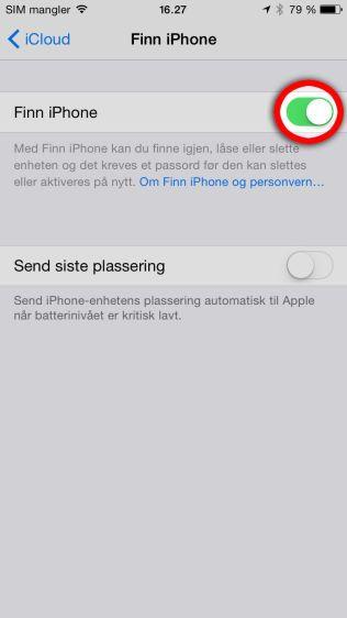 FINN TELEFONEN DIN: Med Finn Iphone kan du spore telefonen din. Android-telefoner har tilsvarende programmer.