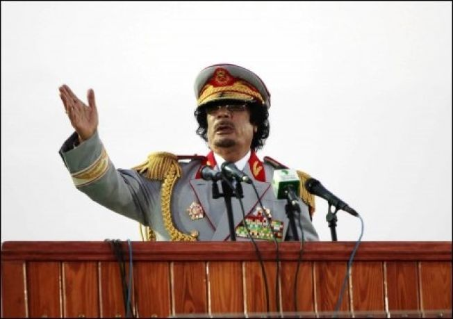 STYRTET: Muammar al-Gaddafi styrte Libya fra 1969 til 2011. Her taler han på en seremoni i Tripoli i juni, 2010.