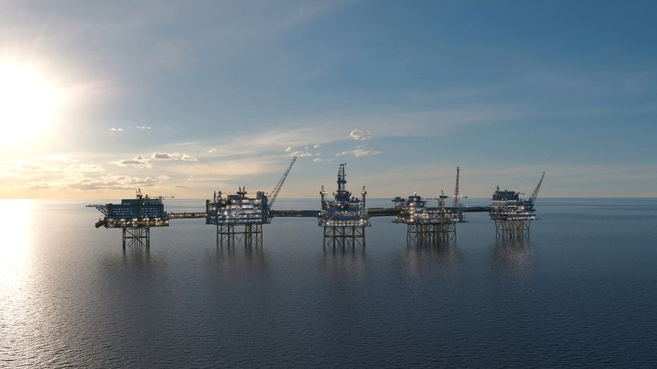 Johan Sverdrup-feltet i Nordsjøen skal starte produksjonen i oktober 2019.