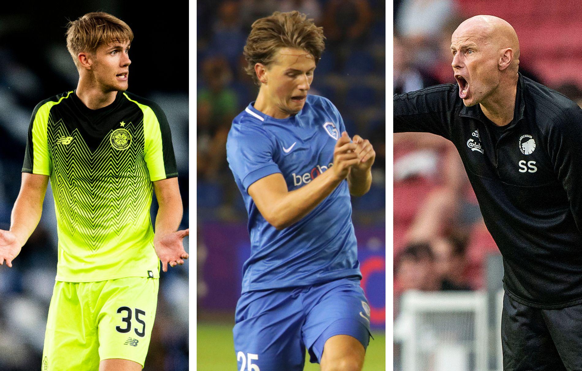I AKSJON: Kristoffer Ajer (Celtic), Sander Berge (Genk) og Ståle Solbakken (FC København) er blant nordmennene som spiller skjebnekamper torsdag kveld.