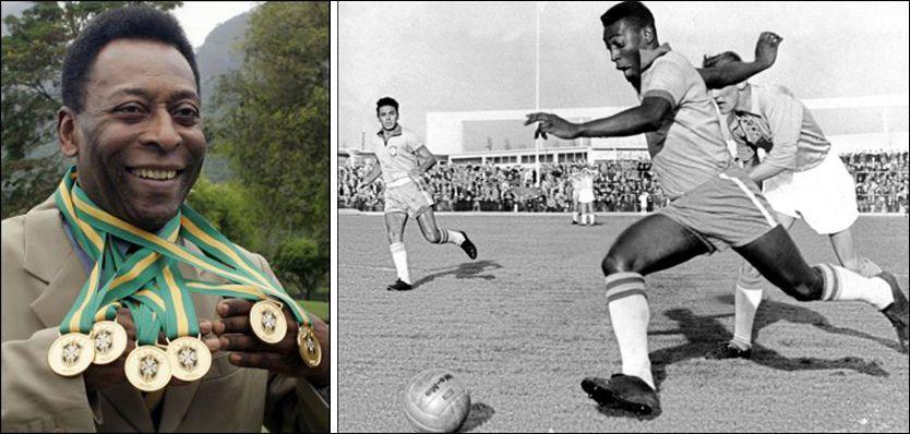 NESTEN 50 ÅR SIDEN SIST: 48 år etter at Pelé tok sin siste VM-tittel for klubblag kan han få mulighet til å utvide medaljesamlingen med ytterligere én. Foto: AFP/VG Nett montasje