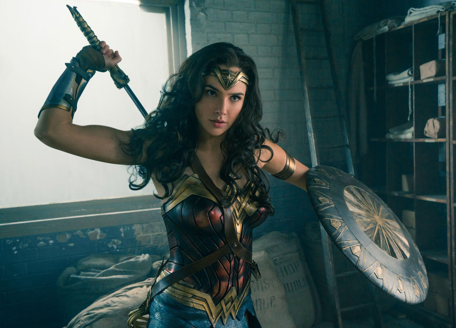 Rå: Gal Gadot spiller rollen som amasonekrigeren Diana i «Wonder Woman». Copyright: SF Studios