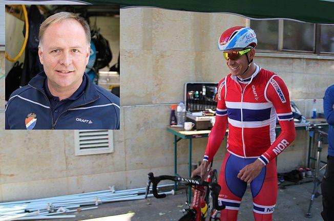 MANGE ROLLER: Stein Ørn (innfelt) er stefar, trener og nå også offisiell lege for Alexander Kristoff. Her er syklisten før en treningstur i Spania i dag, fredag.
