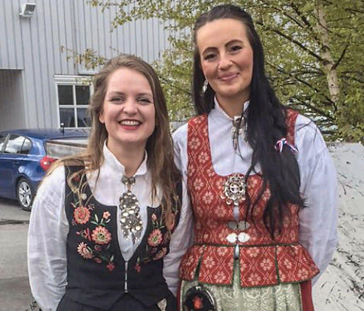 KJENTE HVERANDRE: Line Øverås (t.h.) kjente avdøde Ingrid Aune fra skolen. Hun mener den avdøde ordførerens arvtager får store sko å fylle.