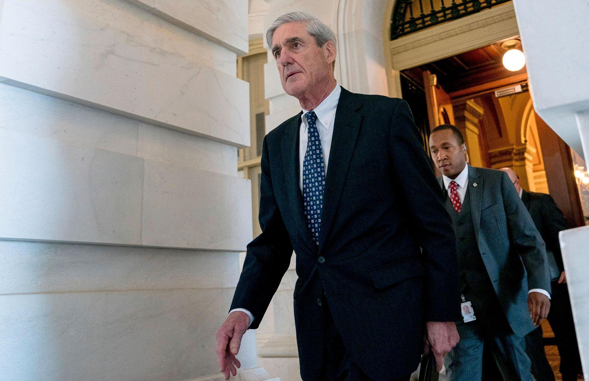 SPESIALETTERFORSKER: Robert Mueller ble utnevnt av visejustisminister Rod Rosenstein.