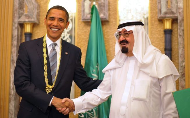 VENNER: Saudi-Arabia er en av USAs nære allierte i Midtøsten. Bildet er fra konges hjem i Riyad i 2009.