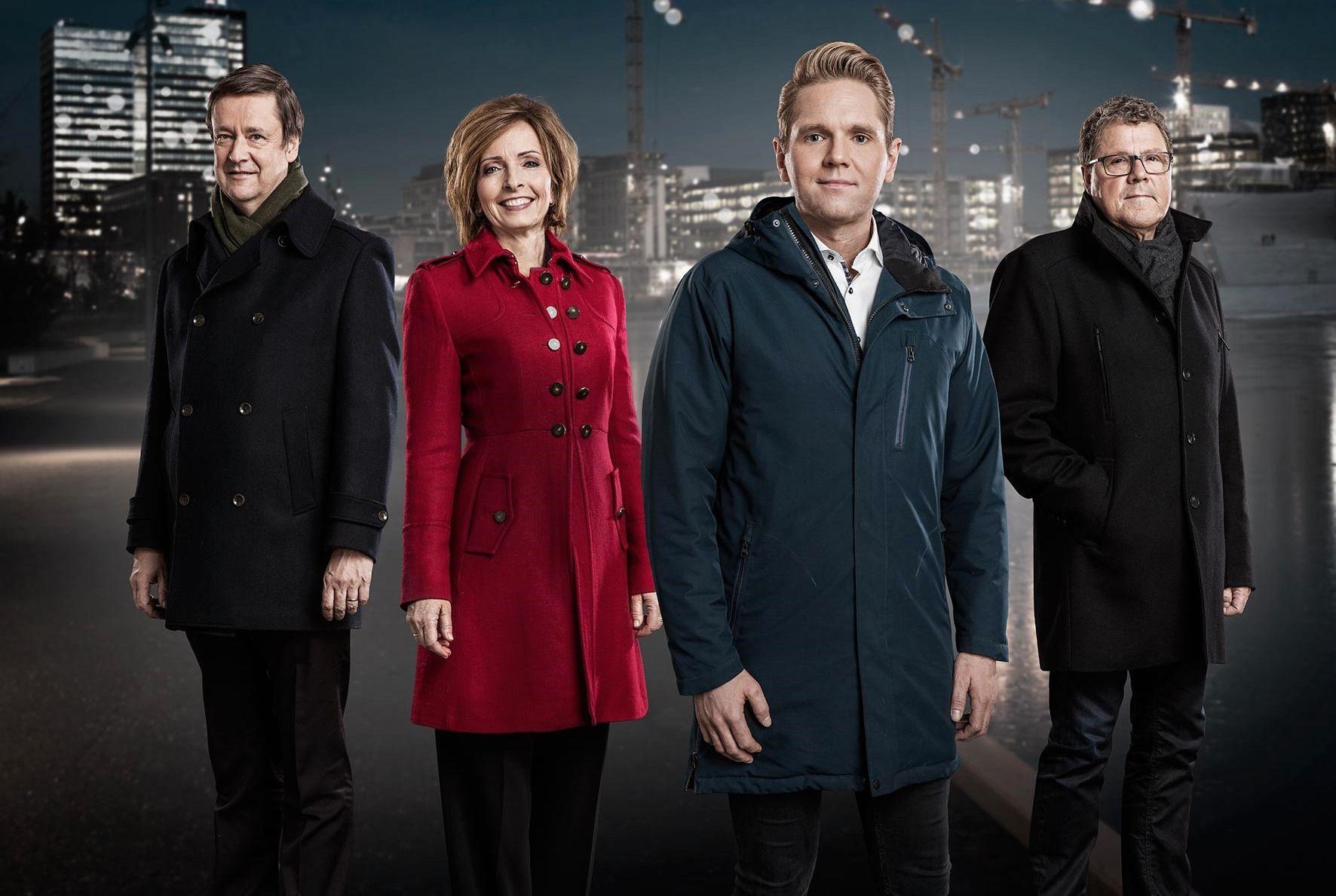 RUSTET SEG TIL KAMP: TV 2 flyttet på «Åsted Norge» og rustet seg til kamp mot TVNorge og «Mandagsklubben» i går.