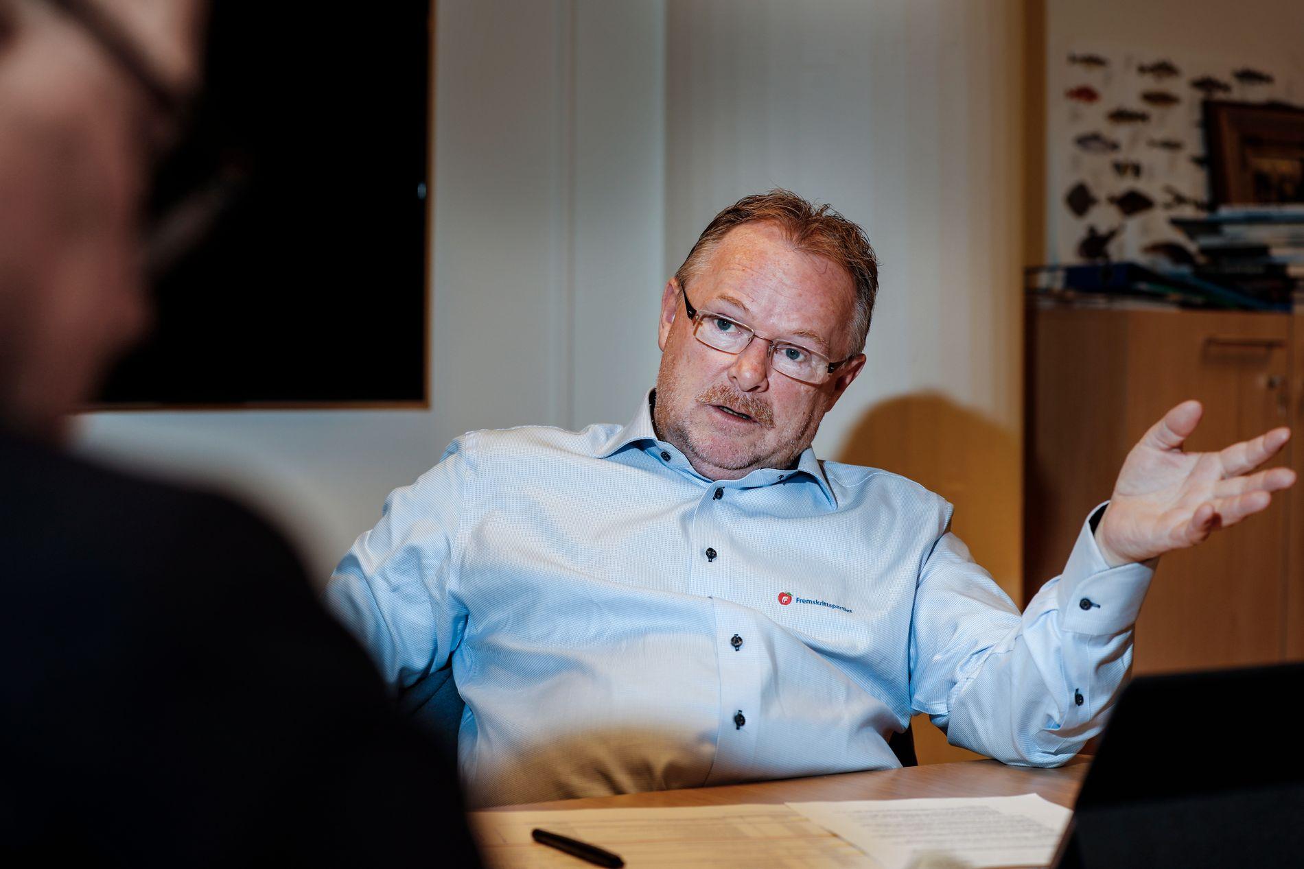 ØREFIK OK? Nestleder Per Sandberg i Frp synes det er greit at menn som trakasserer kvinner, får seg en øresuser. FOTO: MATTIS SANDBLAD/VG