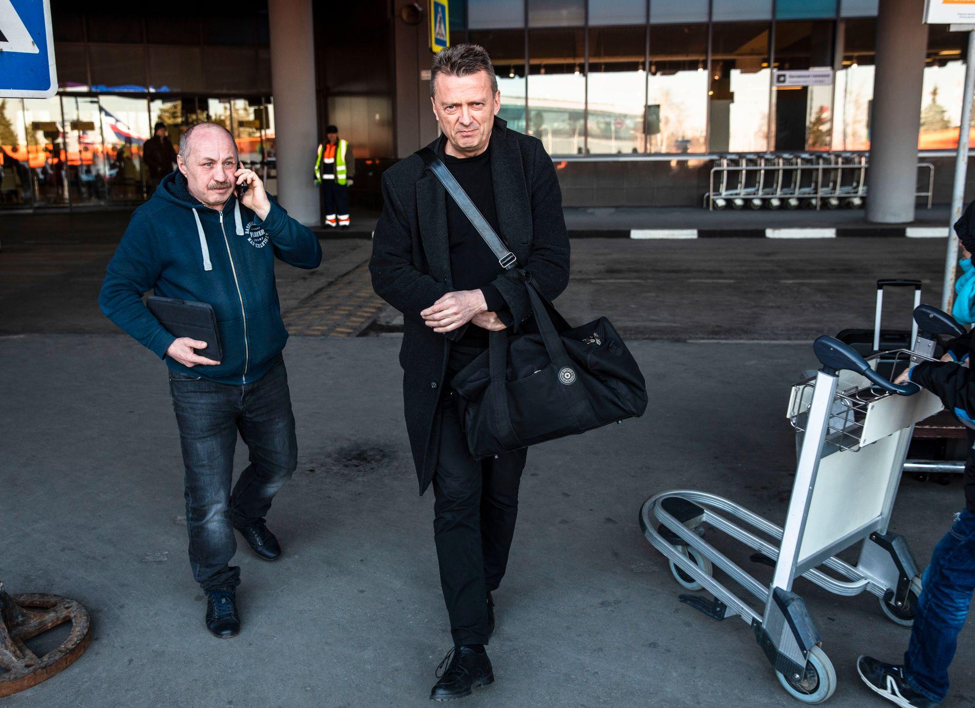 ANKOMMET MOSKVA: Advokat Brynjulf Risnes er i Moskva for første gang etter pågripelsen av Frode Berg for halvannet år siden.