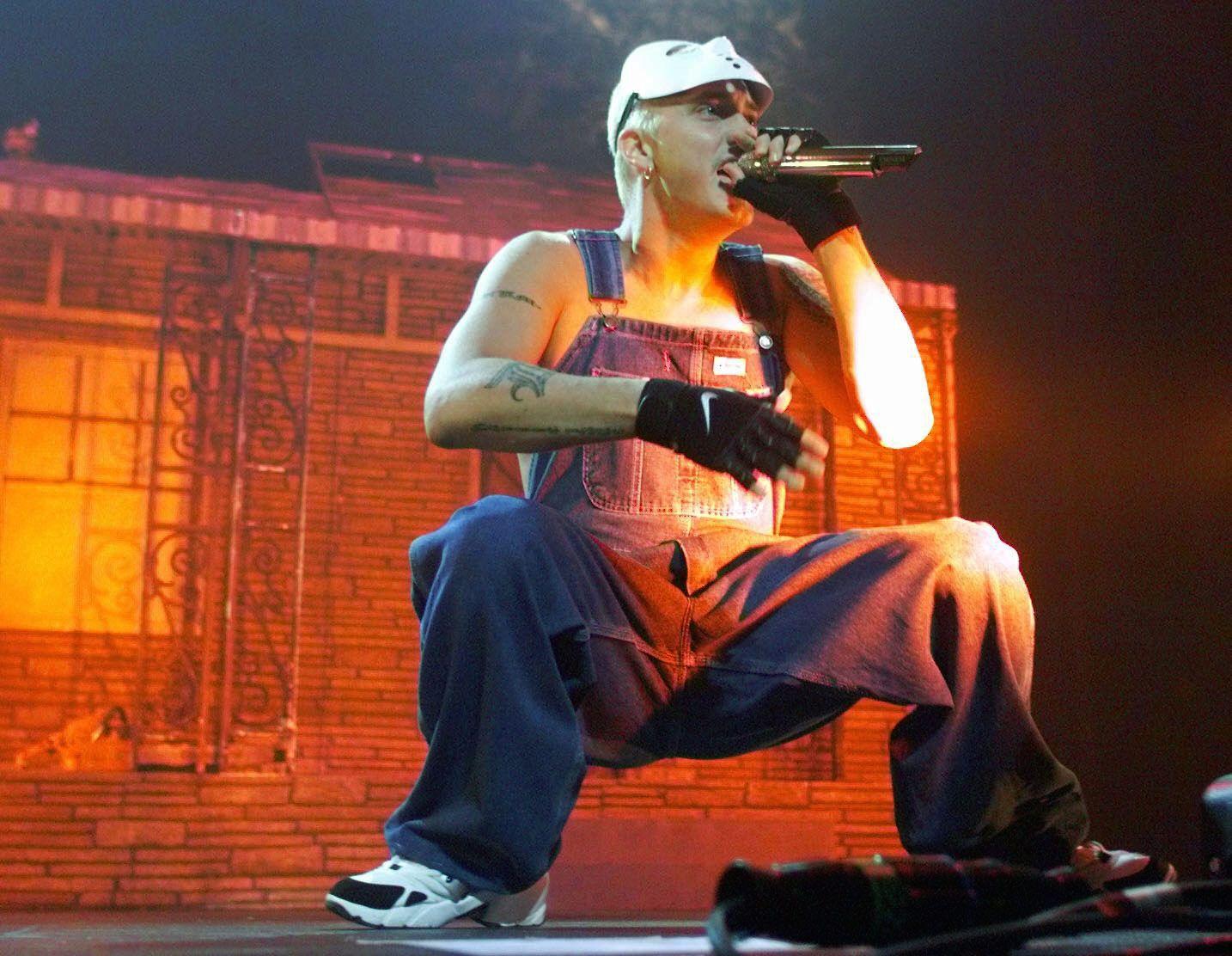 PÅ BESØK I 2001: I sommer er det 17 år siden Eminem gjestet Oslo Spektrum.