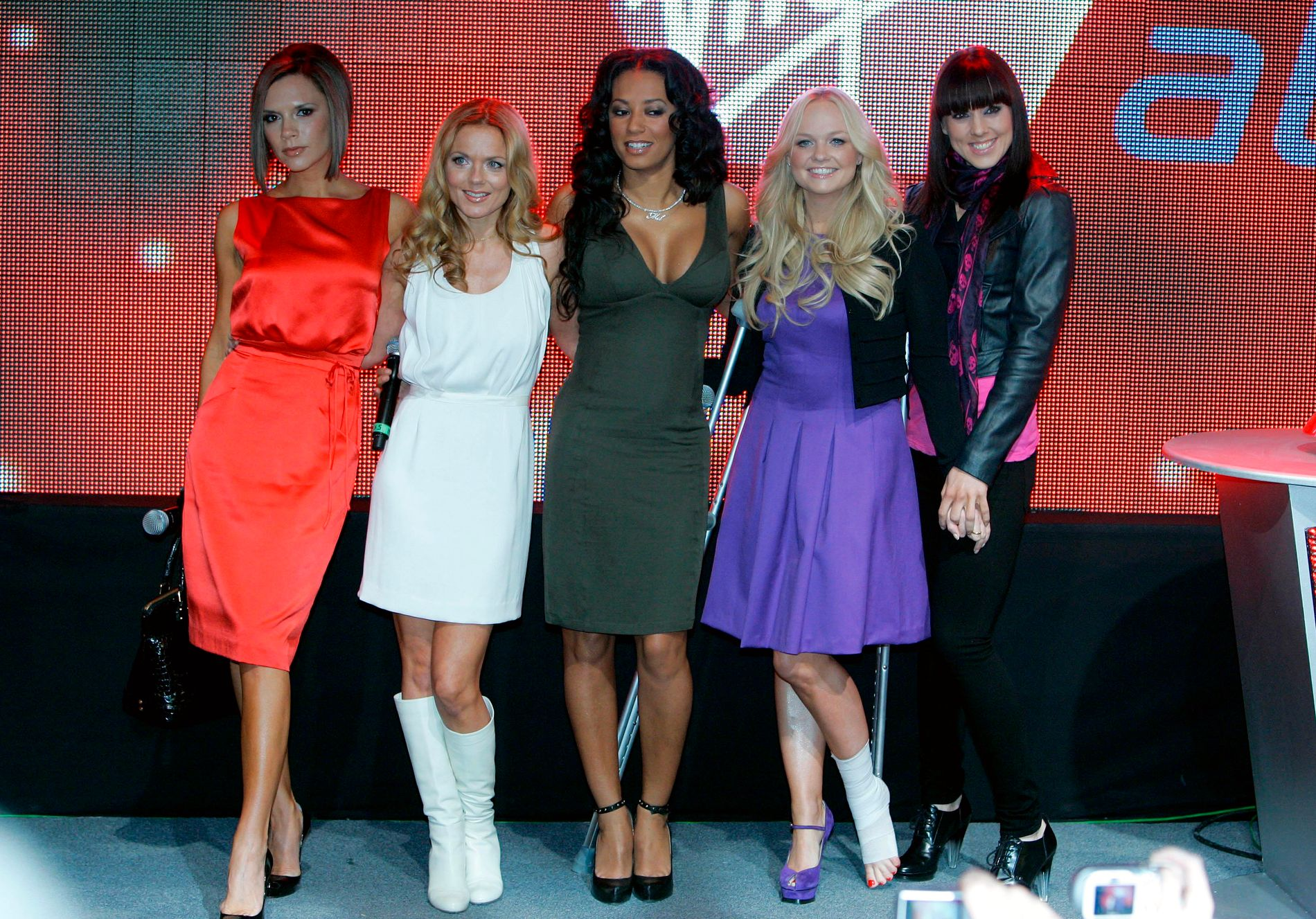 POPICONS: Spice Girls in 2007, left Victoria Beckham, Geri Horner, Melanie Brown, Emma Bunton and Melanie Chisholm.