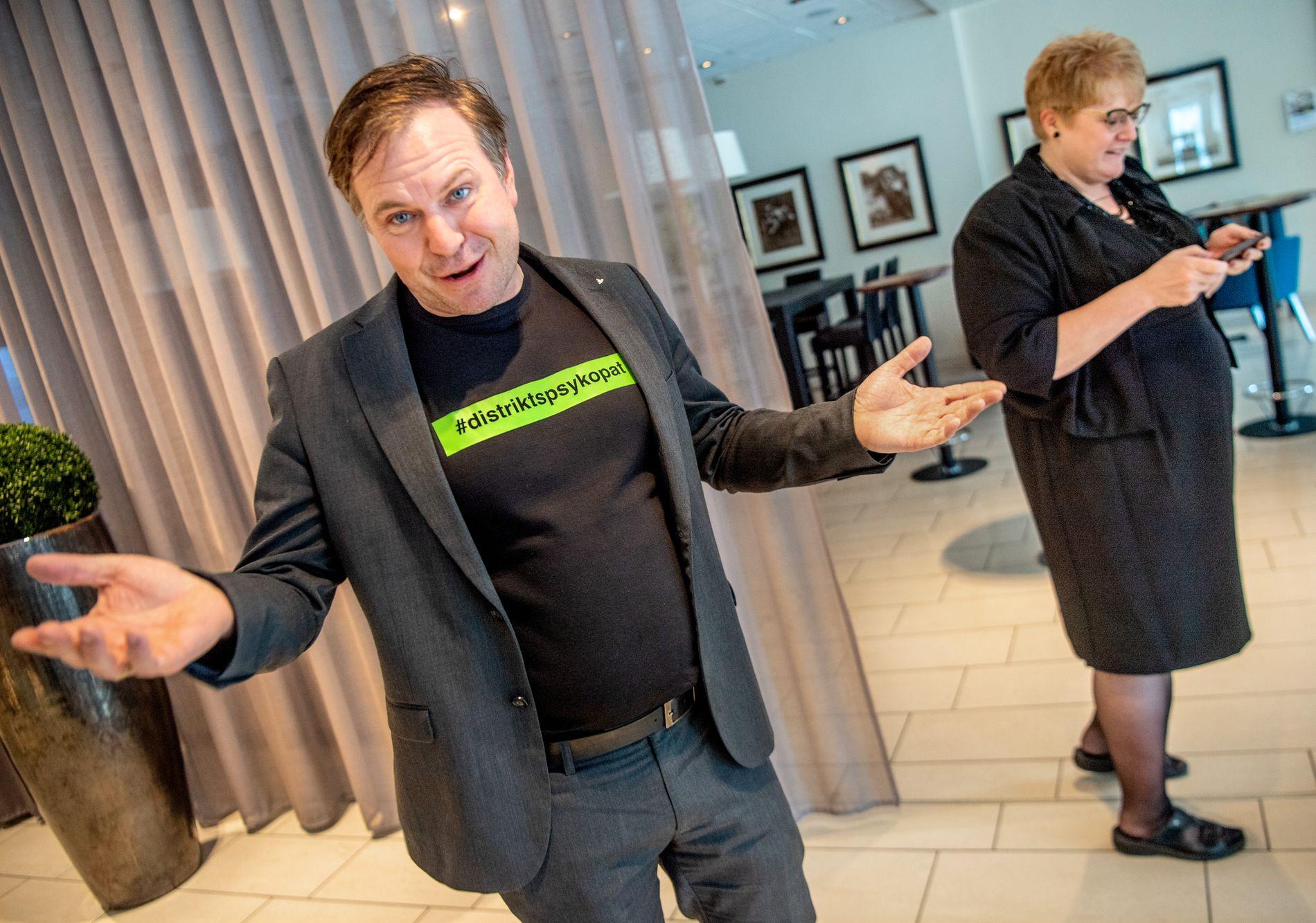 ALFRED I FRONT: Venstre-ordfører Alfred Bjørlo i Eid fikk en oppslutning på 36,1 i sin kommune. Trine Skei Grande fikk 3,8 på landsbasis.