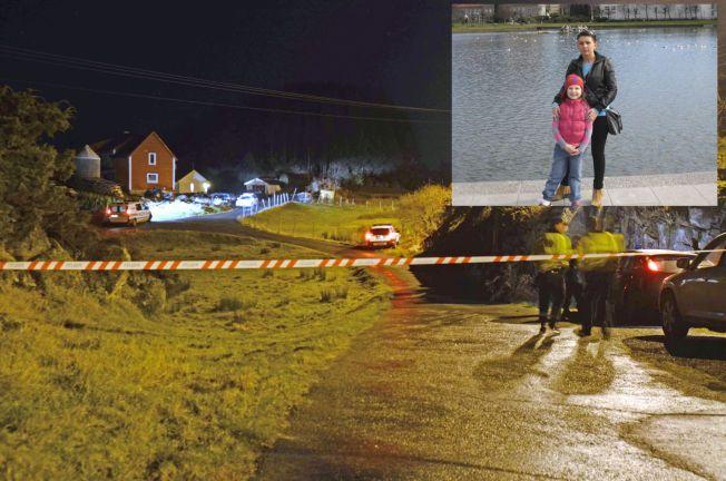 ÅSTEDET: Her i Sund på Sotra ble Monika Sviglinskaja (8) funnet død i 14 november 2011, og mandag etterlyser politiet flere vitner som var i området den datoen. Innfelt bilde er Monika sammen med mamma Kristina Sviglinskaja (32) på tur i Bergen sentrum.