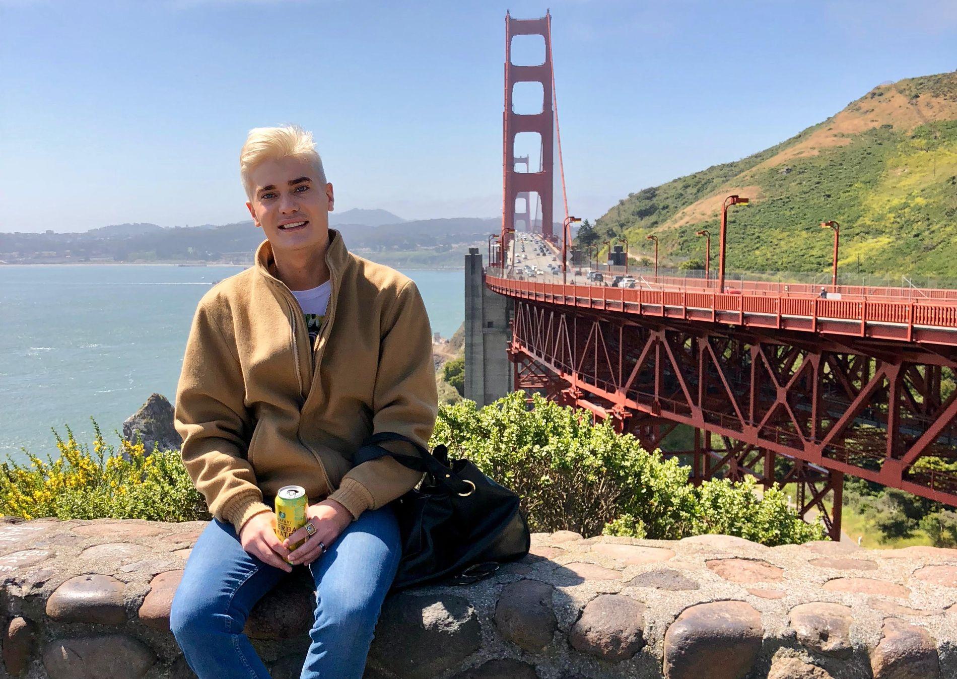LIVET I LA: Lars Tangen flyttet fra Oslo for snart fire år siden. Nå har livet bedret seg, og han ser lyst på fremtiden.
