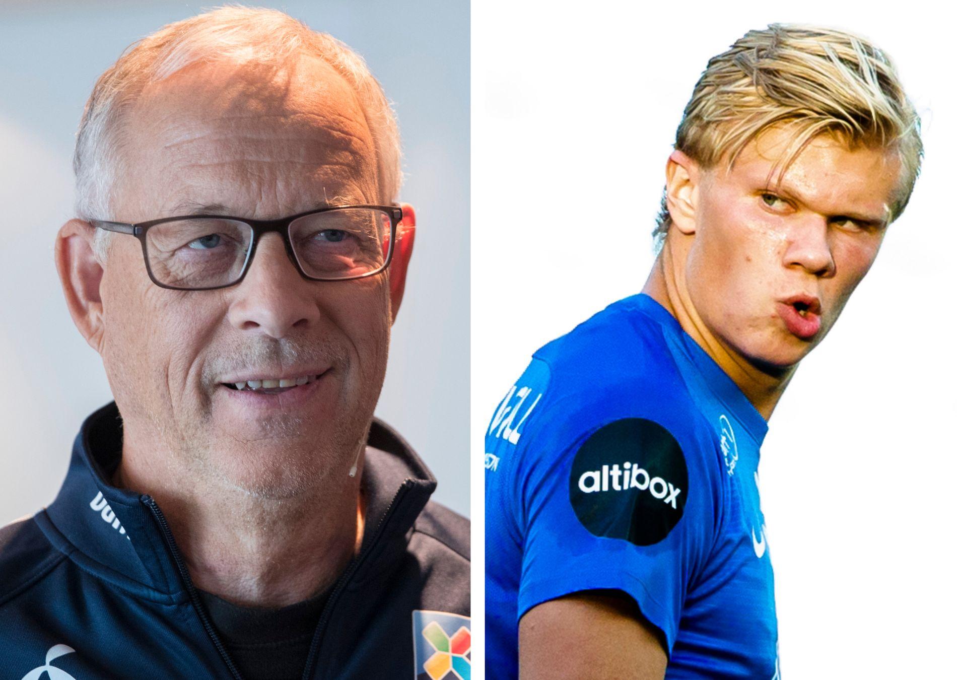 MÅ VENTE: Erling Braut Haaland får ikke plass i Lars Lagerbäcks A-landslagstropp ennå.