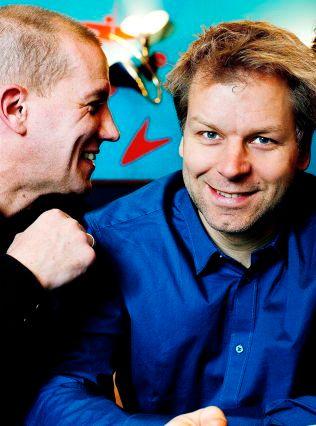 KAMERATER: Henrik Elvestad og Espen Eckbo.