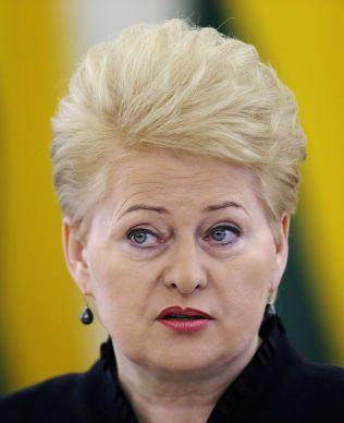 POPULÆR: I mai ble Litauens president Dalia Grybauskaite gjenvalgt for en ny femårsperiode. Hun blir ikke mindre populær når hun - med norsk hjelp - i dag bryter Putins gassmonopol i Baltikum.