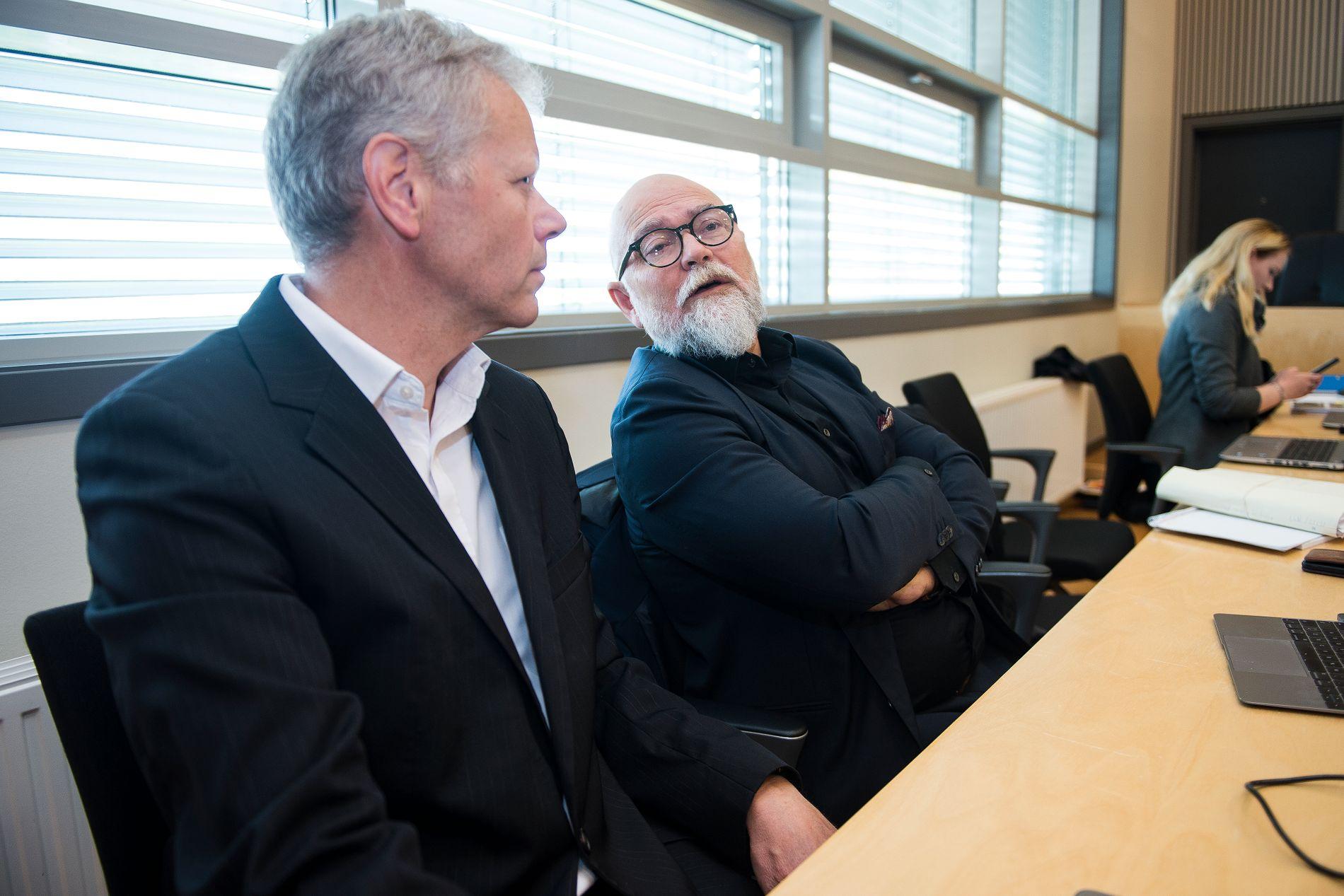 SAKKYNDIGE: Dan Tungland (t.v.) og Tor Ketil Larsen skal mandag forklare seg om tiltalte i Varhaug-saken.