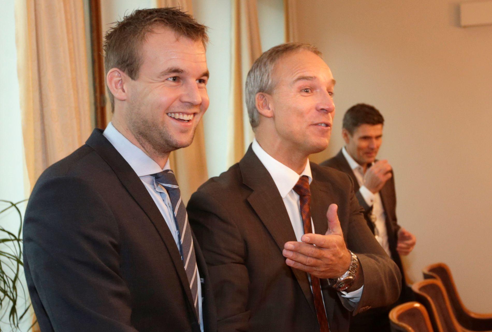 POPULÆRE: Nestleder Kjell Ingolf Ropstad og tidligere parlamentarisk leder Hans Olav Syversen blir pekt på som populære arvtakere til å ta over ledertronen i KrF.
