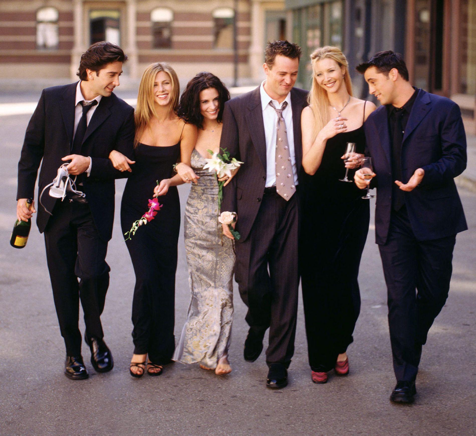 SLIK VI HUSKER DEM: Gjengen fra «Friends» slik vi husker dem. Fra venstre:  David Schwimmer, Jennifer Aniston, Courteney Cox, Matthew Perry, Lisa Kudrow and Matt LeBlanc