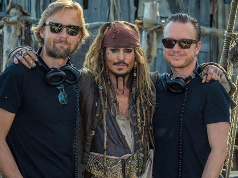 FILMKLARE: Joachim Rønning, Johnny Depp og Espen Sandberg lanserer «Pirates of the Caribbean: Salazar's Revenge» i disse dager.