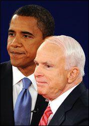 HVEM VINNER? Om få uker avgjøres det om Barack Obama eller John McCain blir USAs neste president. Foto: AFP